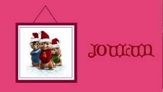 Alvin ja pikkuoravat - Hyvän joulun toivotus (sanoilla)