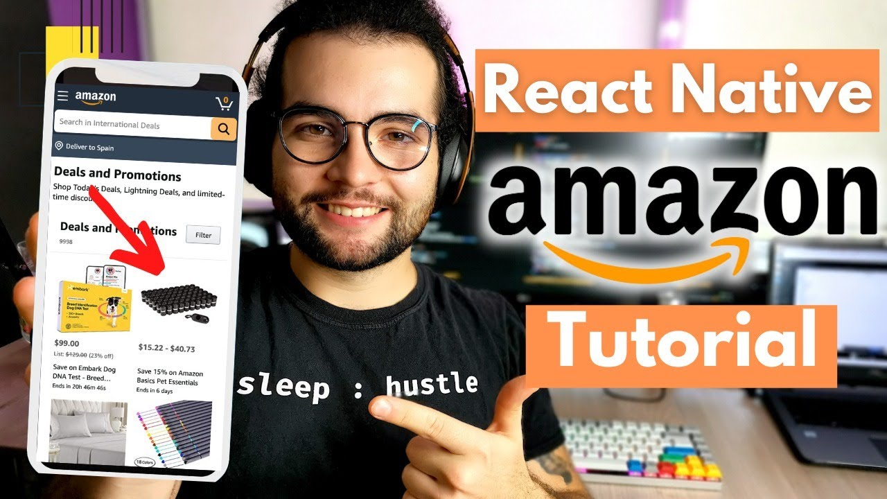 Build an eCommerce App in React Native p.2 ( Tutorial by ex-Amazon SDE )
