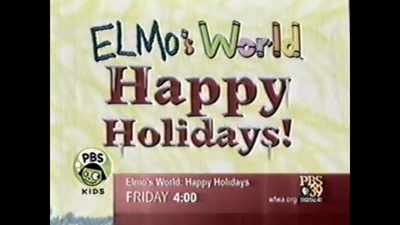 Opening To Elmo S World Happy Holidays Vhs 2002 By Robert Guzman