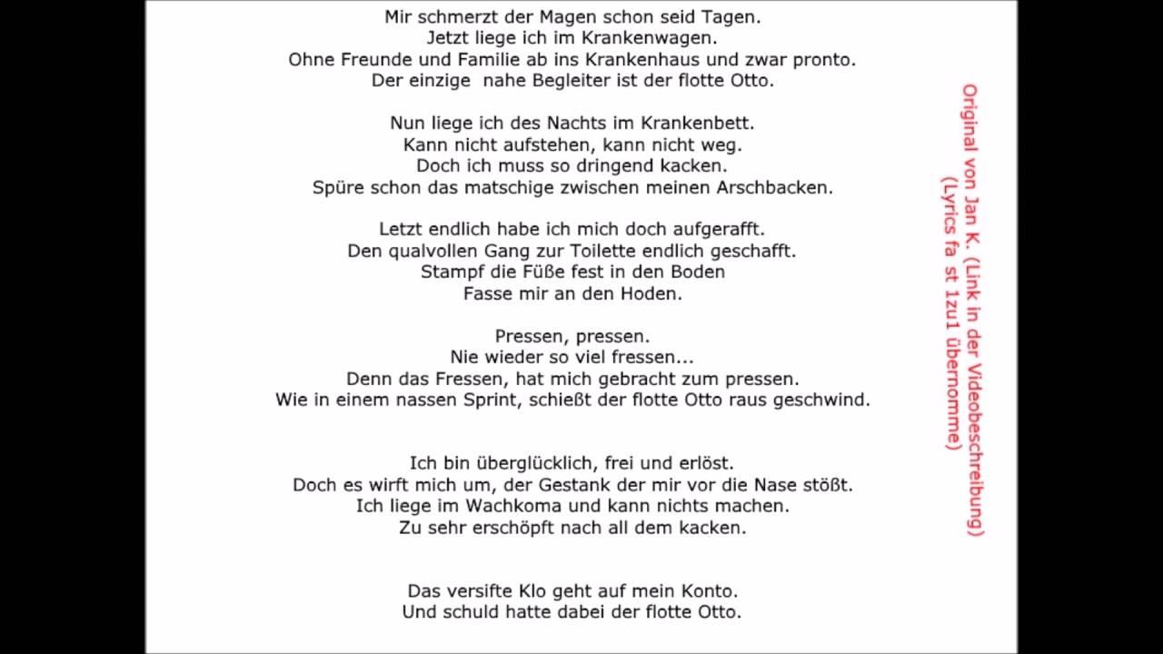 Gedicht Des Flotten Otto