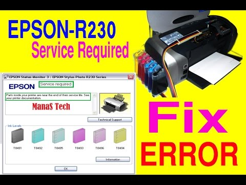 Service Required (Epson Stylus Photo R230/R230x) Issue Fix