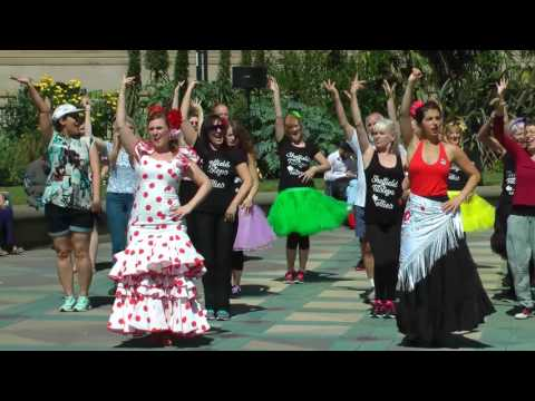 Chance to Dance 2017 - Flamenco in Sheffield (lessons excerpts and group performance)