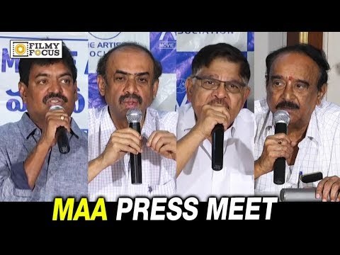 Movie Artists Association Press Meet About Drugs Addiction in Telugu Film Industry - Filmyfocus.com
