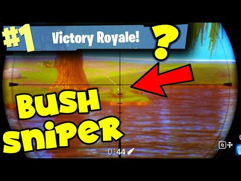 THE BUSH SNIPER!!!! FORTNITE BATTLE ROYALE!!