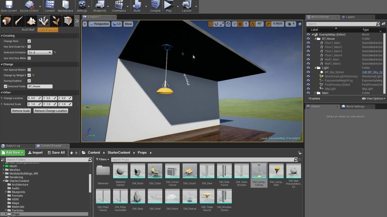[UE4] Building Tools - Plugin for quick building | Tutorial