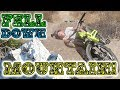 KID FALLS DOWN MOUNTAIN AFTER CRASH!!!