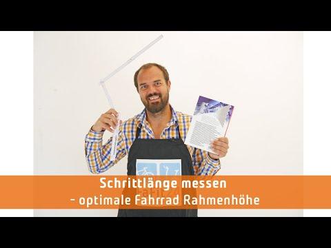 Video: Schrittlänge messen für die optimale Fahrrad Rahmenhöhe - Fafit24 Willi weiß Rad