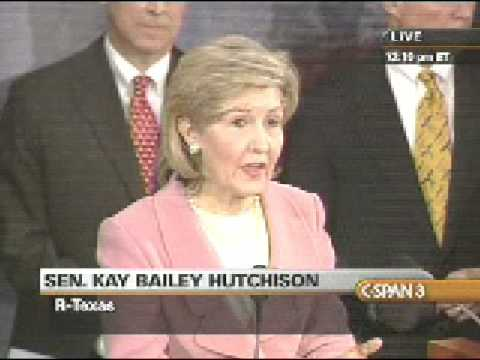 Senator Hutchison Discusses the American Recovery and Reinvestment Act at Press Conference