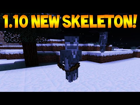 ★new Skeletons!! Minecraft 110 Update  New Skeleton Mob