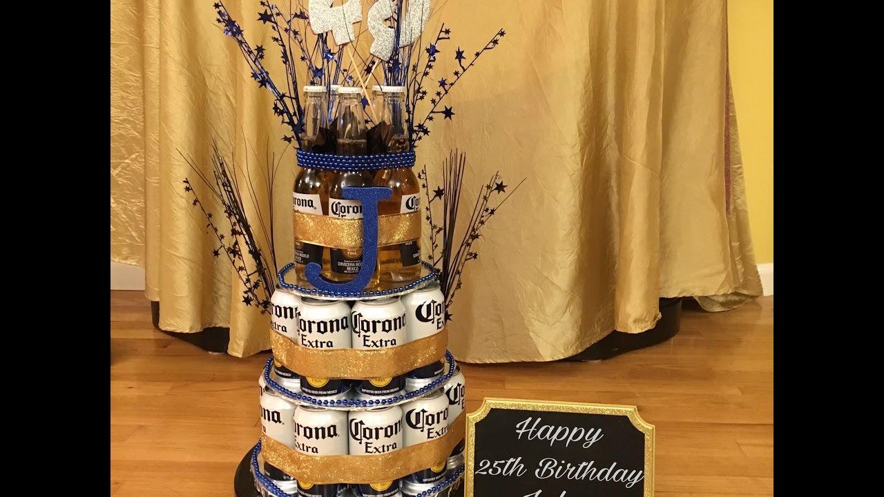 Diy Corona Beer Can Bottle Cake For Boyfriend Youtube