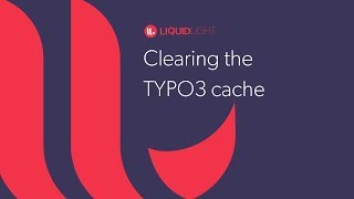 Clearing the TYPO3 cache