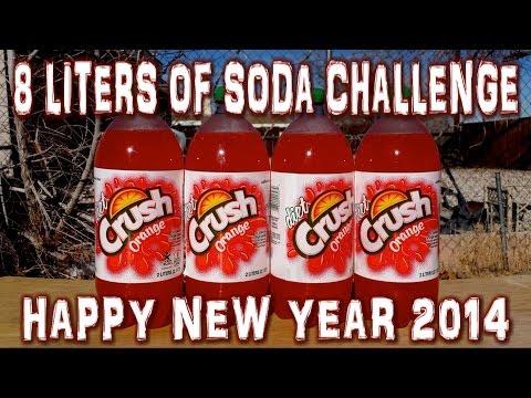 8 Liters of Orange Soda Challenge **VOMIT ALERT** (vs the world 28) #MidnightMadness