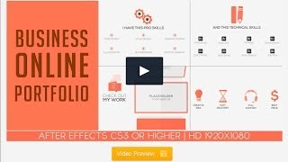 """""""Business Online Portfolio"""" - Adobe After Effects Motion Graphic Template Download"""