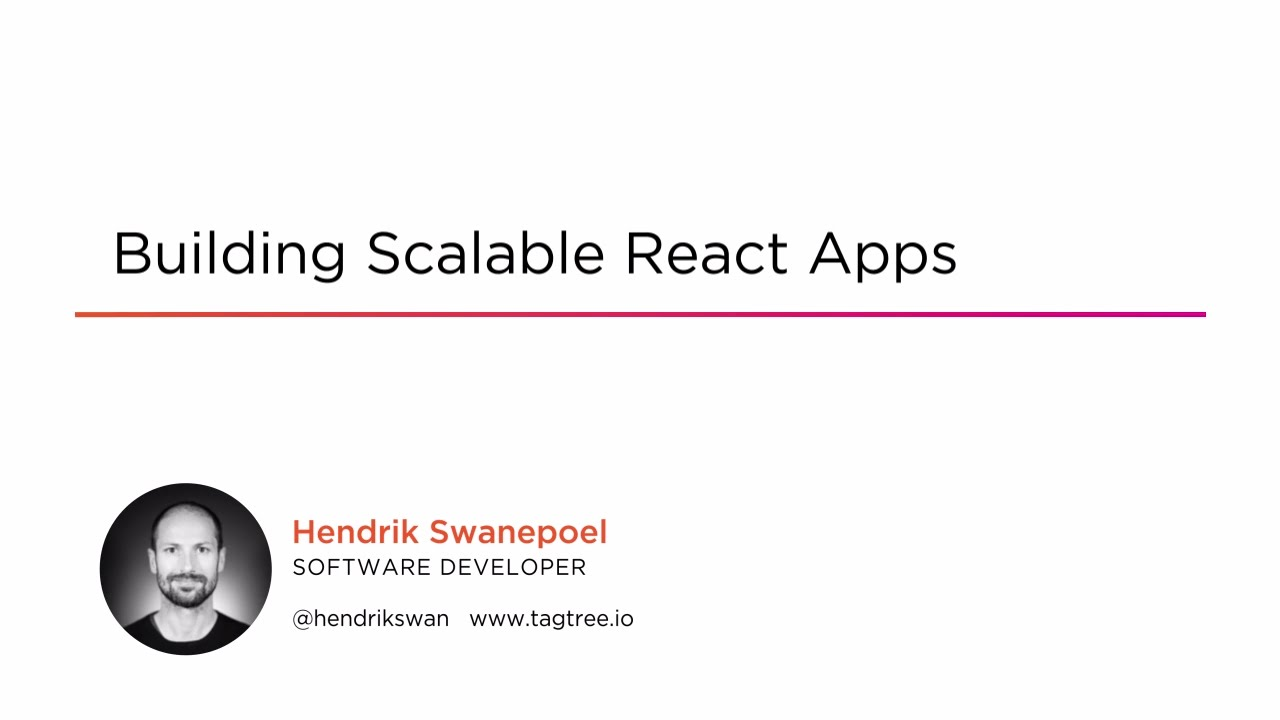 Building Scalable React Apps | Pluralsight
