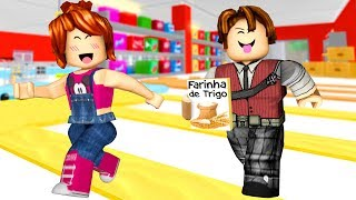 ESCAPE DA MERCEARIA ft JULIA MINEGIRL (Roblox Escape The Grocery Store Obby)
