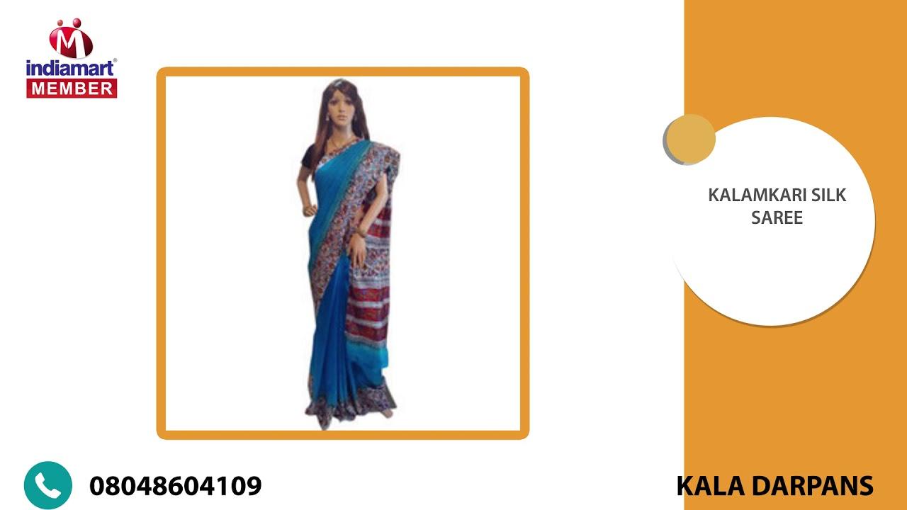 393cadfbb8 Manufacturer & Wholesaler of Kalamkari Saree - YouTube