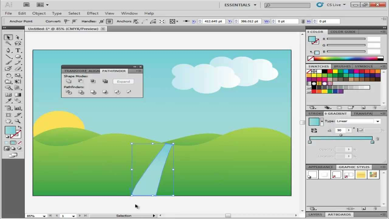 How to create landscape in adobe illustrator youtube for Creating a landscape