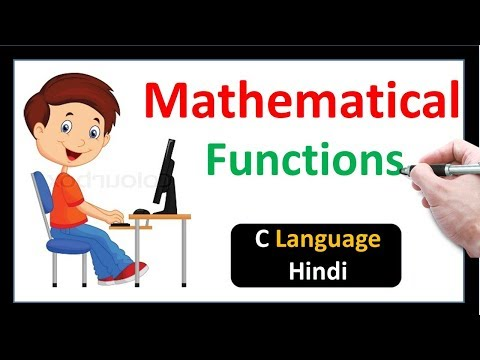 Mathematical Functions in C Language-Hindi