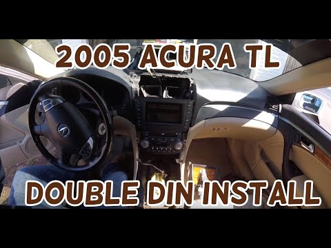 2004 2005 2006 2007 2008 Acura TL Radio Install Double Din Aftermarket Stereo DIY