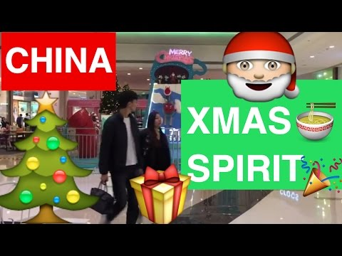 CHINA CHRISTMAS SPIRIT IN A SHOPPING MALL IN SHENZHEN