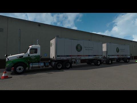 American Truck Simulator 579 Peterbilt Old Dominion Freight Line Dbls