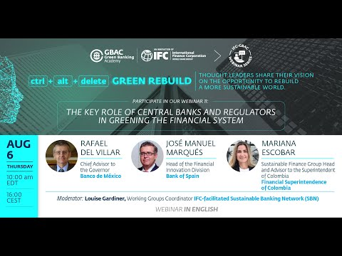 Webinar 11: The key role of central banks and regulators in greening the financial system
