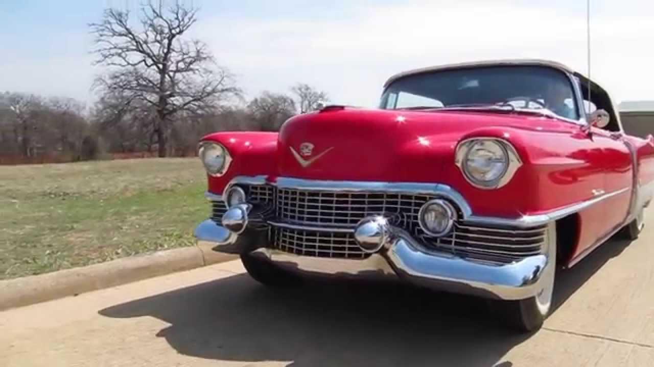 1954 Cadillac Eldorado Convertible Driving Video Youtube El Dorado