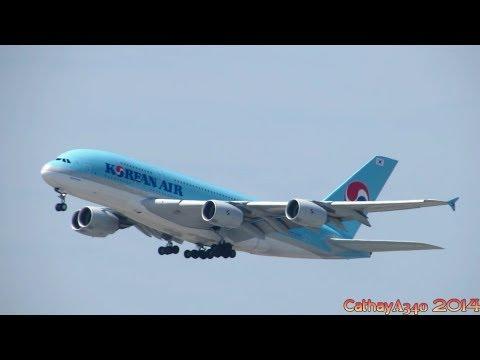 Korean Air Airbus A380 Takeoff From John F. Kennedy International Airport KJFK/JFK (Full HD)
