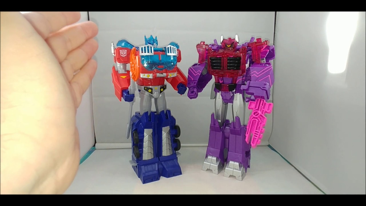 Chuck's Reviews Cyberverse Ultimate Energon Armor Optimus Prime and Shockwave