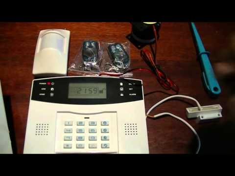 WirelessGSM alarm full review,programming andtest