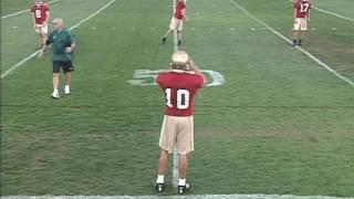 Notre Dame QB Football Drill Tape