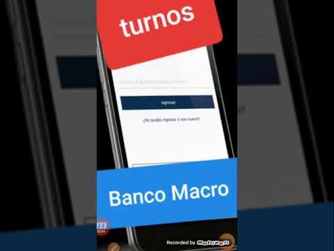 Como SACAR  turno BANCO MACRO(para ser atendido)