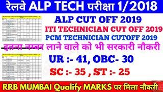 सबसे कम CUT OFF RRB Mumbai में ITI Technician का रहा,  Alp Cut off 2019 in Main List & Waiting list