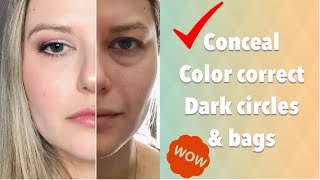 How To Conceal Dark Under Eye Circles and Bags | NO CREASING
