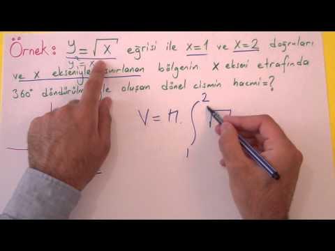 İntegral 8 Hacim Hesabı Şenol Hoca Matematik