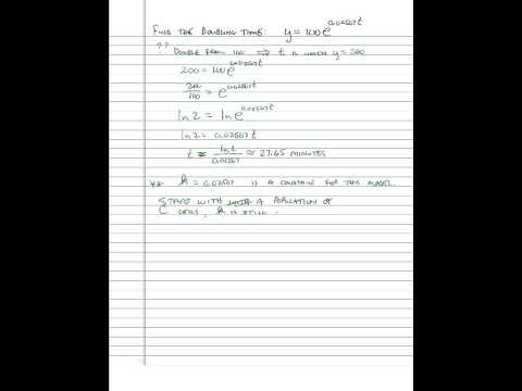 6.2 Differential Equations_Growth and Decay