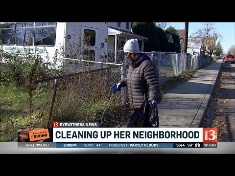 Woman committed to clearing neighborhood of trash