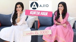 AJIO KURTA HAUL UNDER ₹ 1000 - ELEGANT & BEAUTIFUL | Sana K
