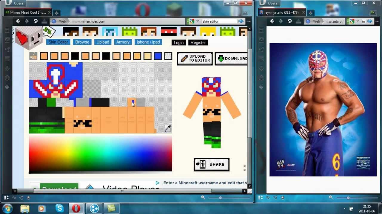 Official Minecraft 1.9 Rey Mysterio Skin