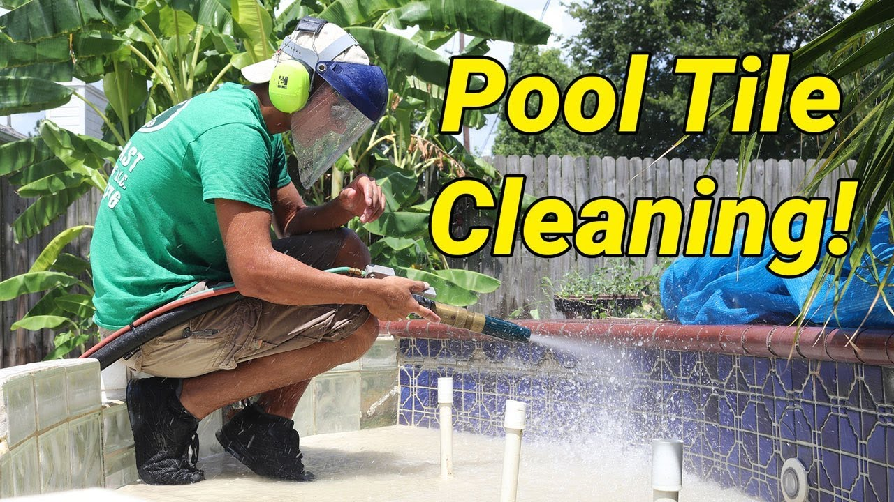 Pool Tile Cleaning With The Dustless