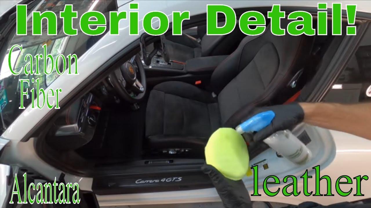 Interior Detail On A Porsche 911 Carrera 4 GTS! Alcantara, Leather, Carbon Fiber!