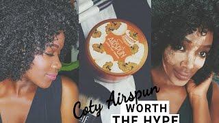 coty airspun on dark skin review