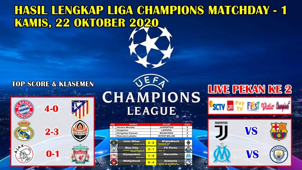 UEFA Champions League live scores: Liverpool, Man City, Bayern ...