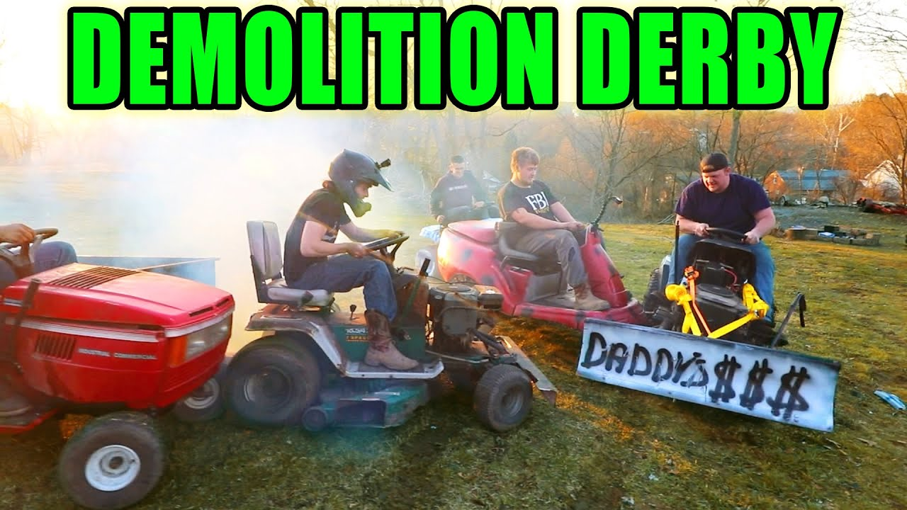 How to Properly DESTROY 5 Tractors (DEMO DERBY)