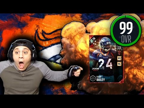 DAVIS PUT THE TEAM ON HIS BACK! (99 CHAMP BAILEY GAMEPLAY) - MADDEN 17 ULTIMATE TEAM