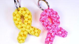 How to make a Paracord Awareness Ribbon - BoredParacord