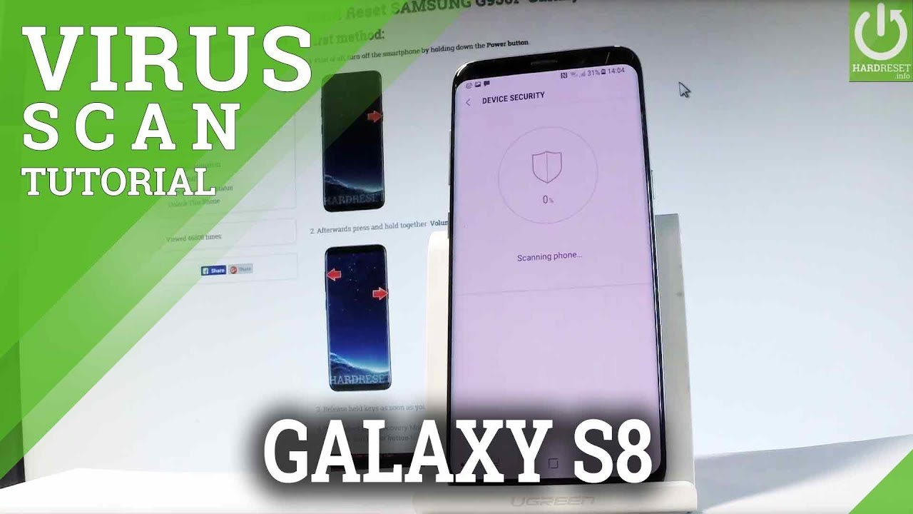 SAMSUNG G950F Galaxy S8 VIRUS SCANNING / Detect Viruses