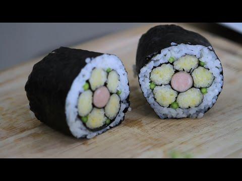 วิธีทำ ซูชิ|ข้าวห่อสาหร่ายดอกไม้ (Hana Sushi)