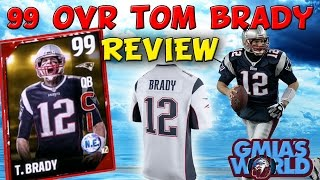 Madden 18 cover athlete tom brady is goat! (99 madden 18 cover tom brady review) | mut 17