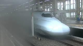 広島駅新幹線入線、ひかりチャイムに999
